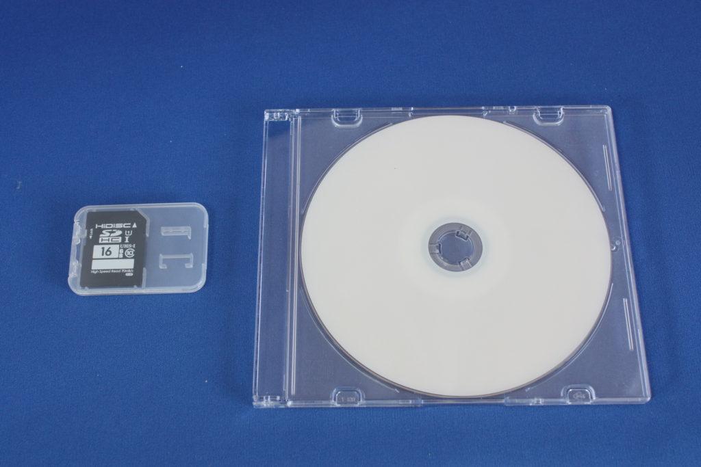 SDカードより映像データをDVD化